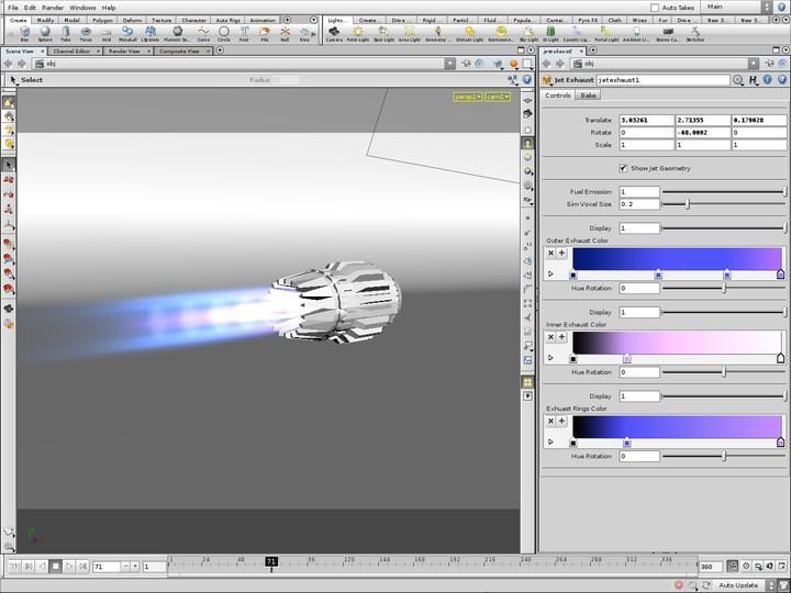 Pyro Jet Exhaust